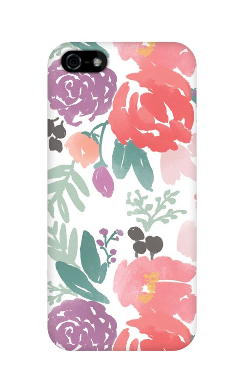 Bridge City Blooms on White Phone Case | Caitlin Wilson for Plum Street Prints