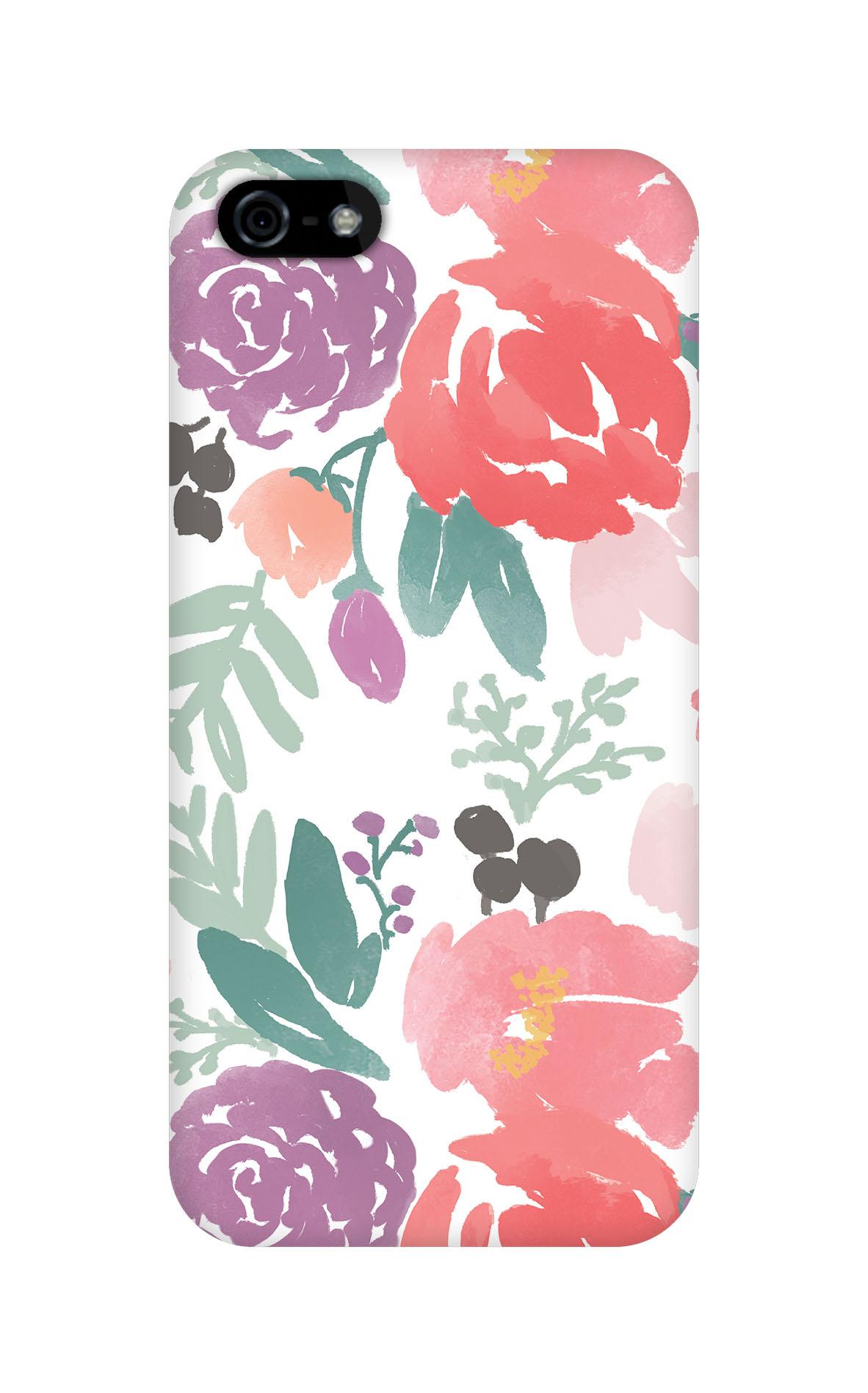 Bridge City Blooms on White Phone Case | Caitlin Wilson for Plum Street Prints