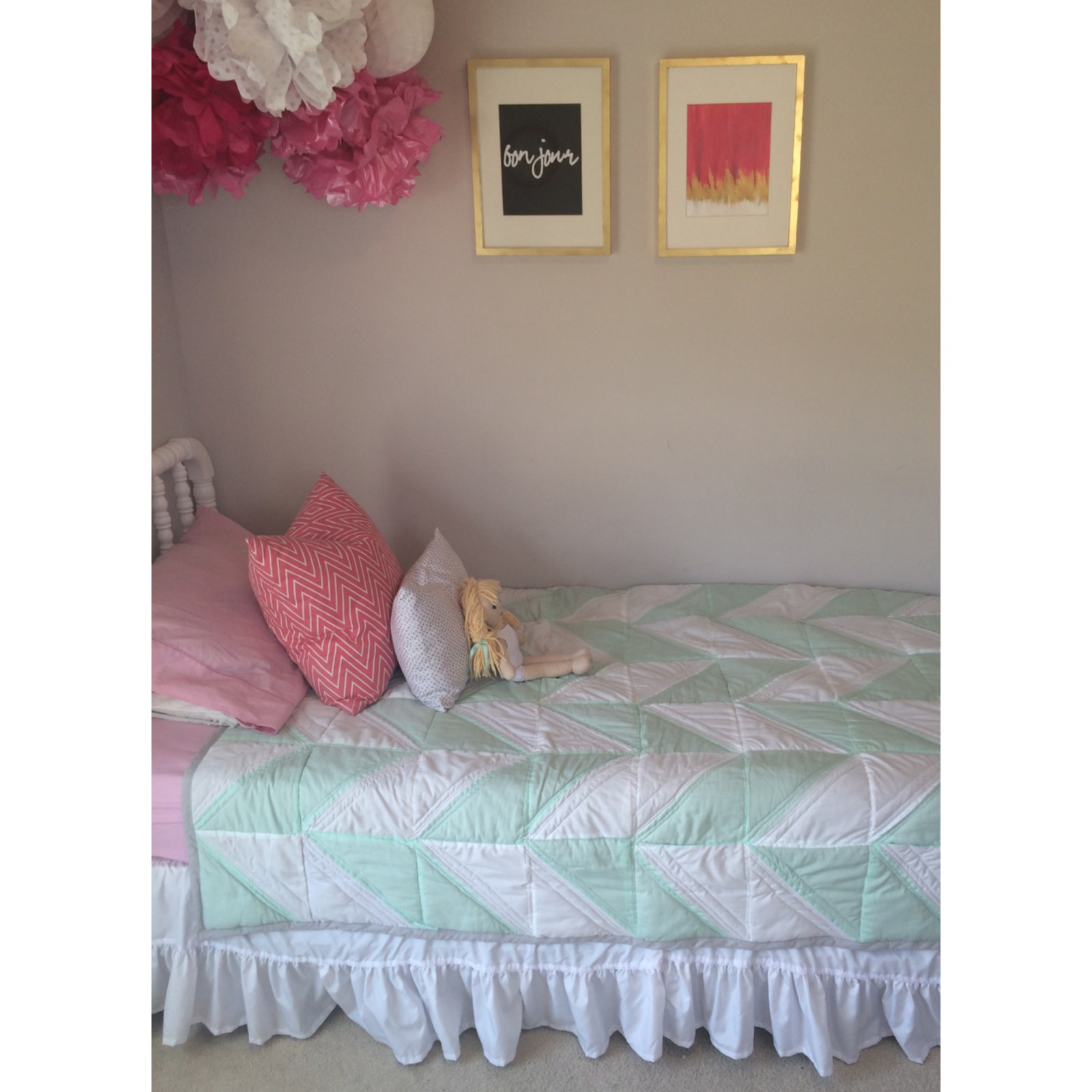 Girls Herringbone Quilt Tutorial