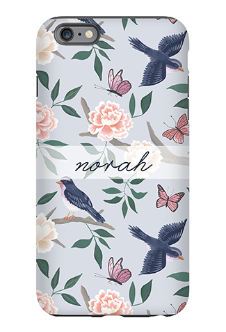 Soft Blue Chinoiserie Phone Case - Caitlin Wilson Line