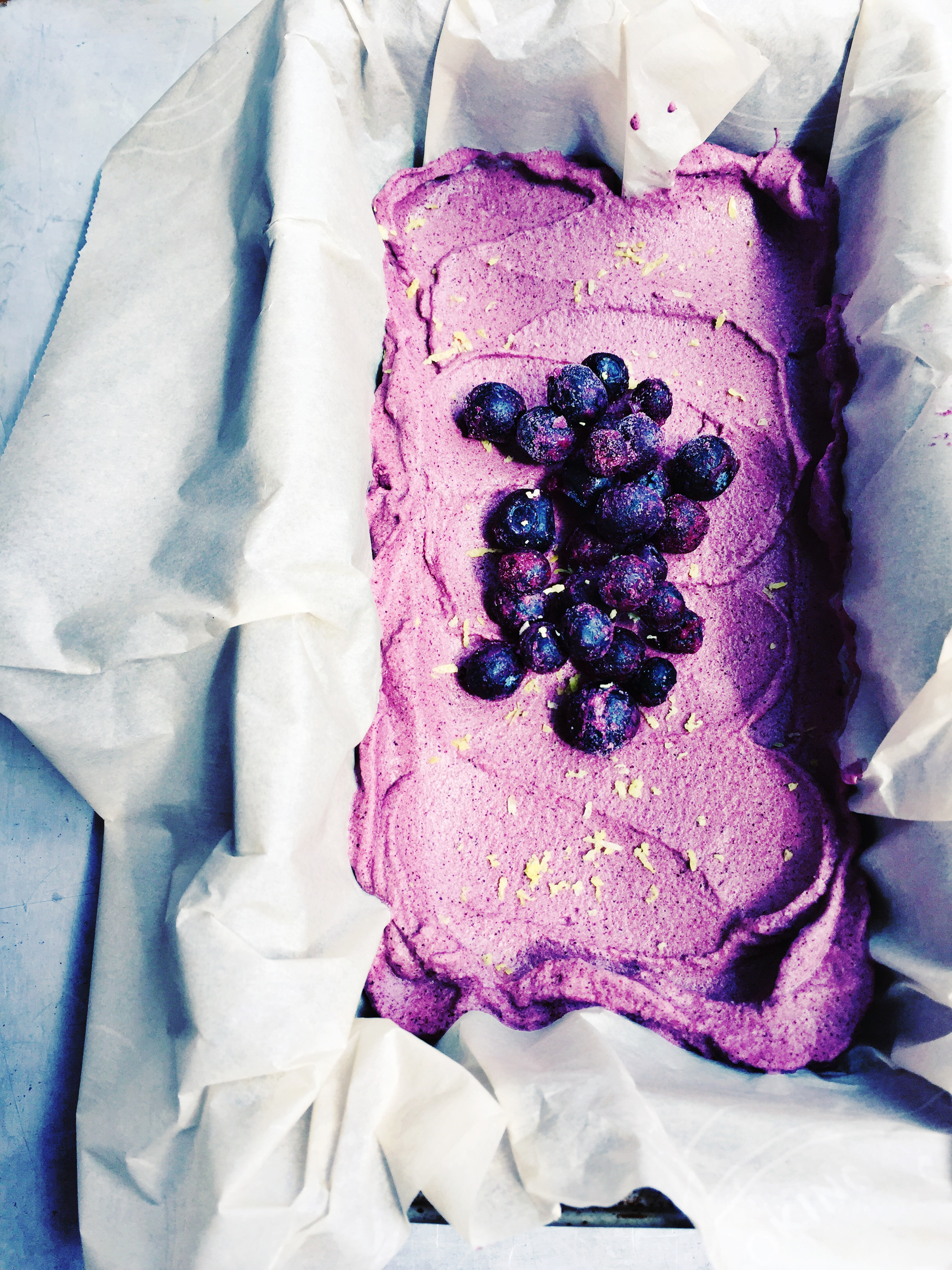 Dairy-Free Sweetener-Free Blueberry Lemon Ice Cream
