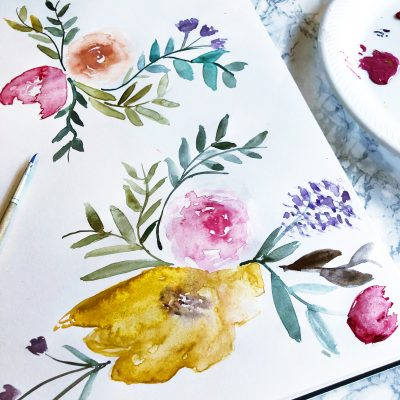 Simple Bloom Watercolor Tutorial