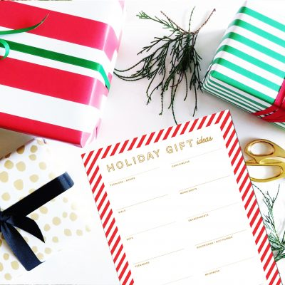 Holiday Gift Planning Printables