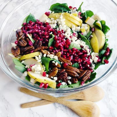 Pomegranate Pear Salad with Orange Vinaigrette