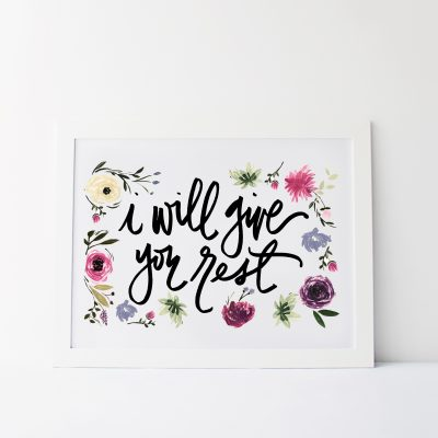 I Will Give You Rest Printable