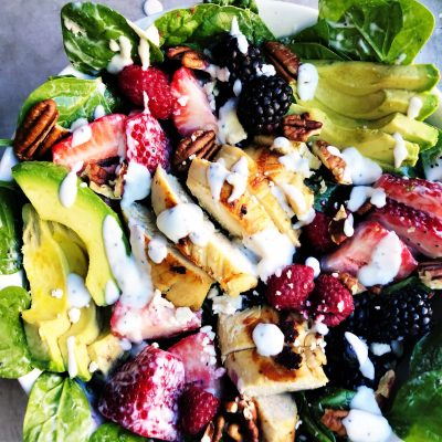 Berry Avocado Poppyseed Salad
