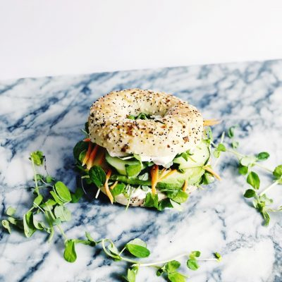 Everything Bagel Veggie Sandwich