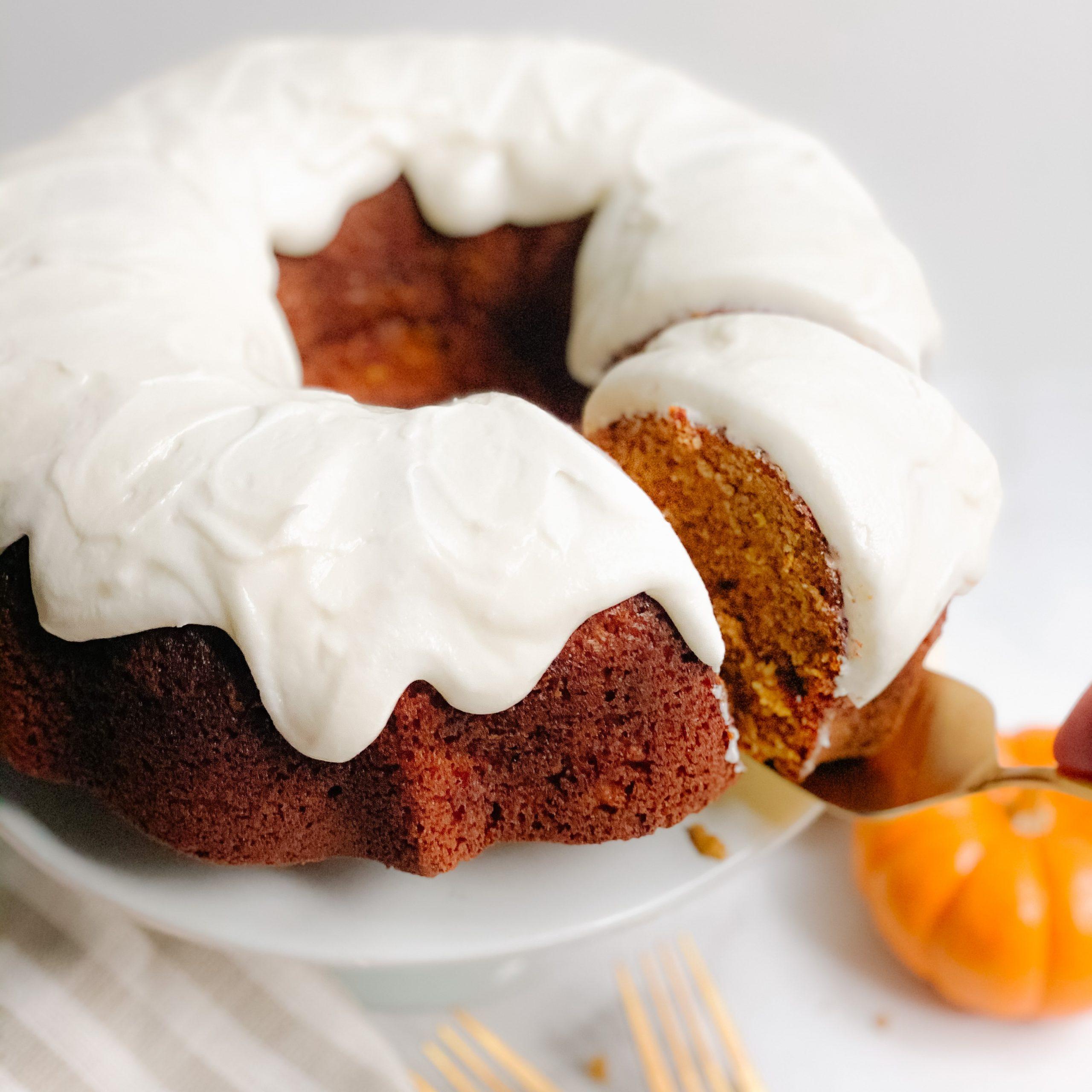 14 Pumpkin Bundt Cake with Cream Cheese Frosting